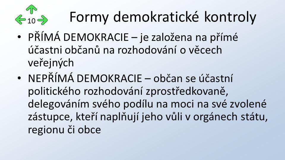 Formy demokratické kontroly