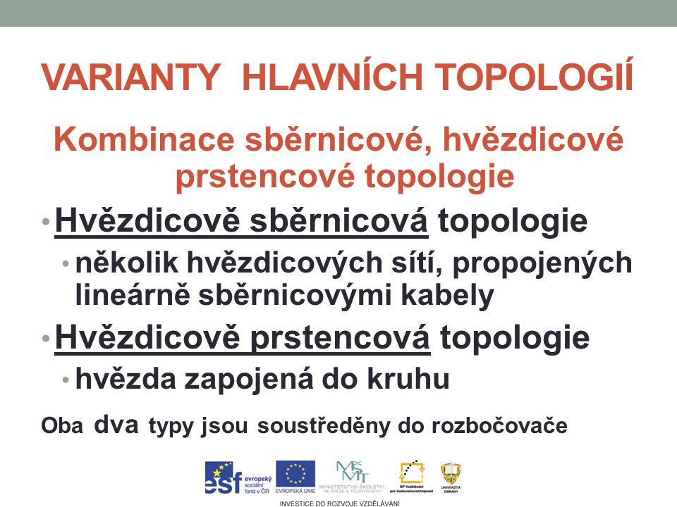 VARIANTY HLAVNÍCH TOPOLOGIÍ