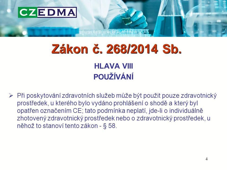 Zákon č. 268/2014 Sb. HLAVA VIII POUŽÍVÁNÍ