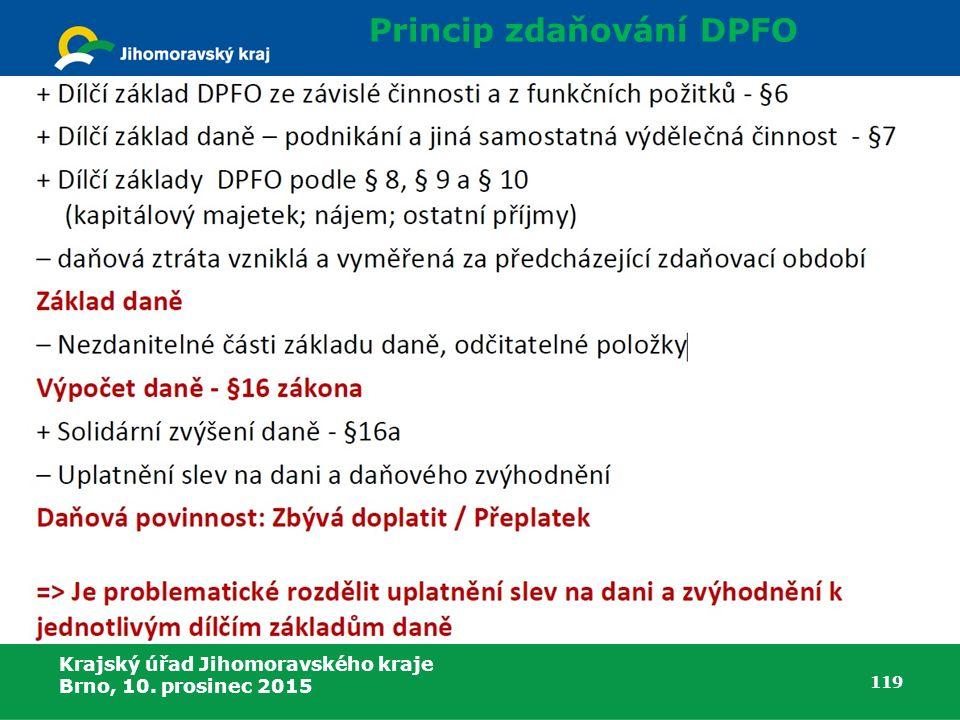 Princip zdaňování DPFO
