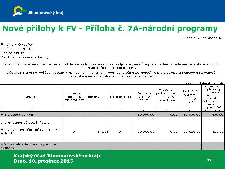 Nové přílohy k FV - Příloha č. 7A-národní programy