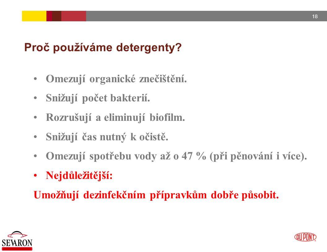Proč používáme detergenty