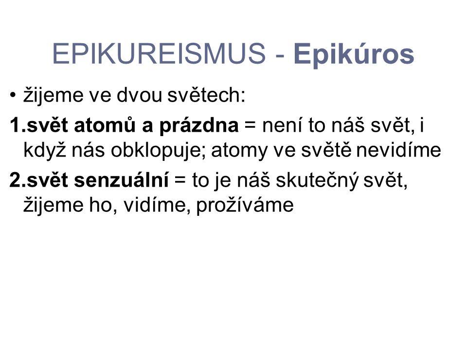 EPIKUREISMUS - Epikúros