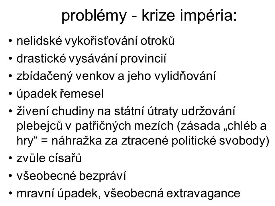 problémy - krize impéria: