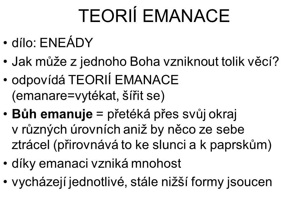 TEORIÍ EMANACE dílo: ENEÁDY