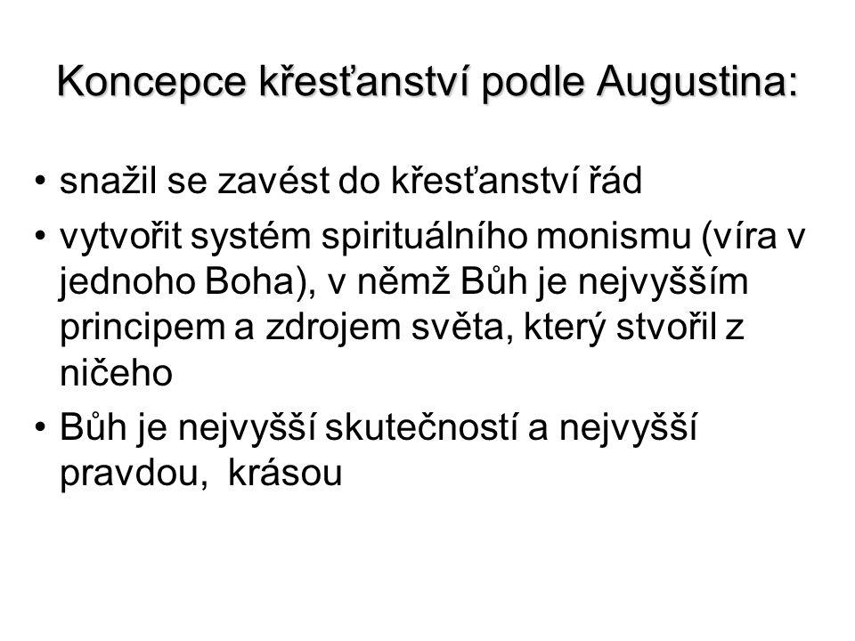 Koncepce křesťanství podle Augustina: