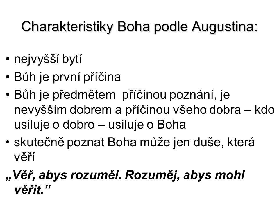 Charakteristiky Boha podle Augustina: