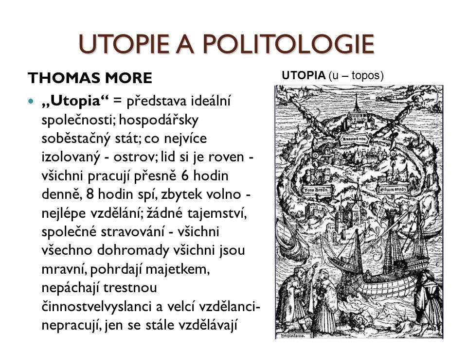 UTOPIE A POLITOLOGIE THOMAS MORE
