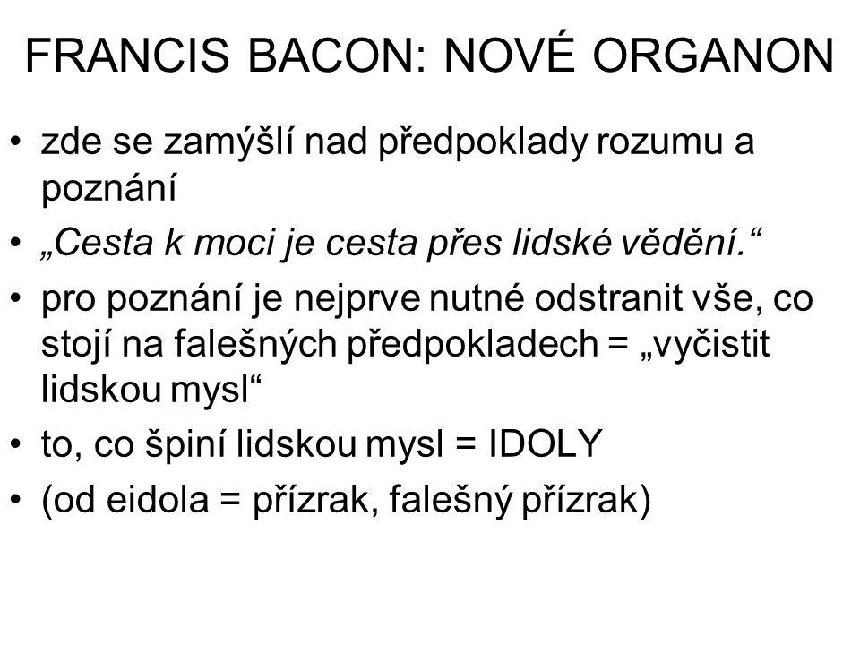 FRANCIS BACON: NOVÉ ORGANON