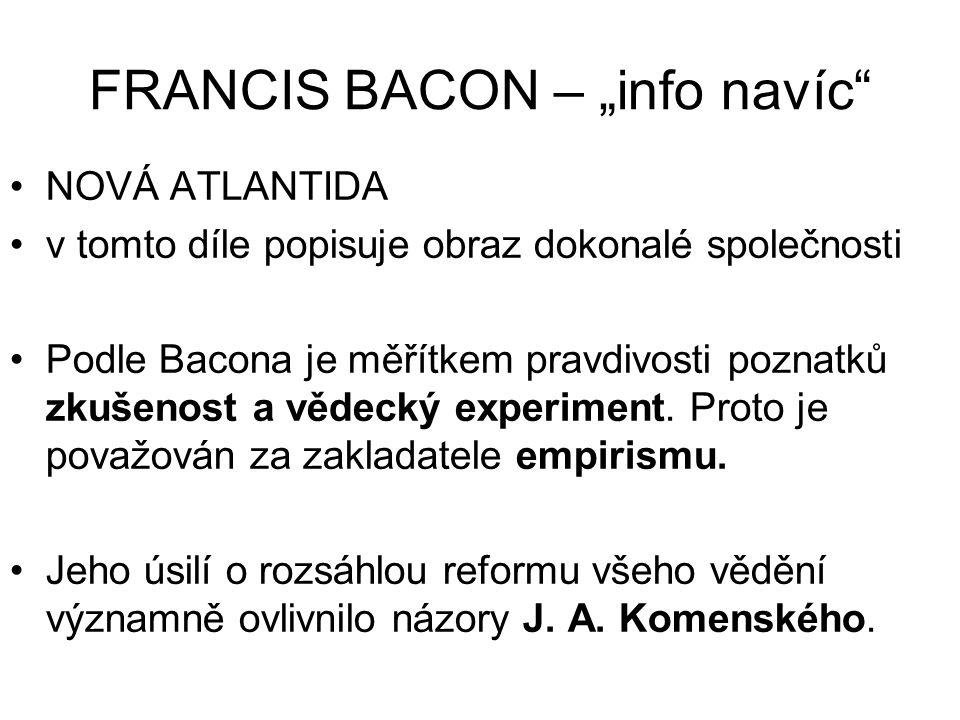 """FRANCIS BACON – """"info navíc"""