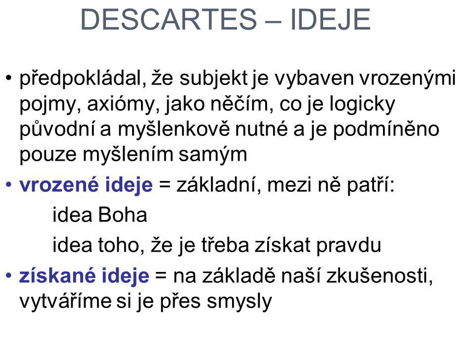 DESCARTES – IDEJE