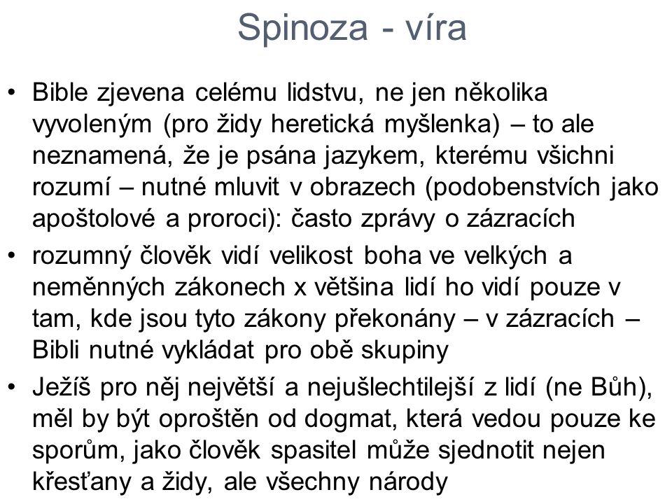 Spinoza - víra
