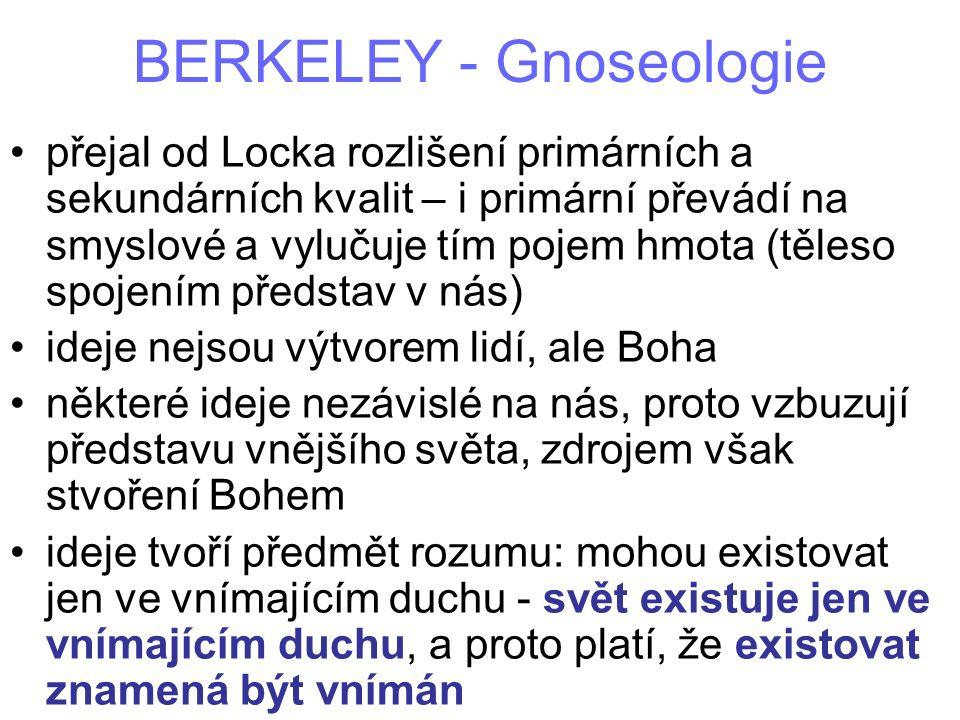 BERKELEY - Gnoseologie