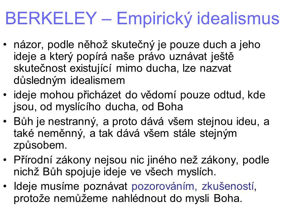 BERKELEY – Empirický idealismus