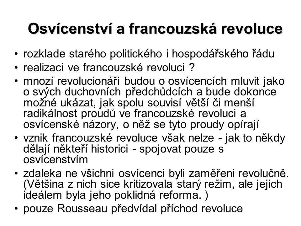 Osvícenství a francouzská revoluce