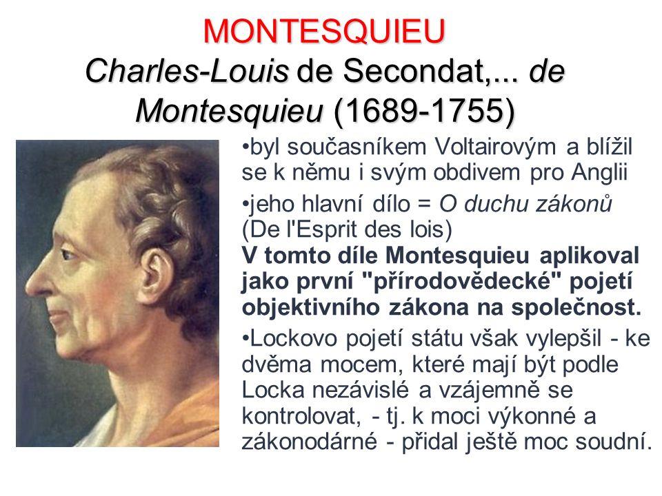 MONTESQUIEU Charles-Louis de Secondat,... de Montesquieu (1689-1755)