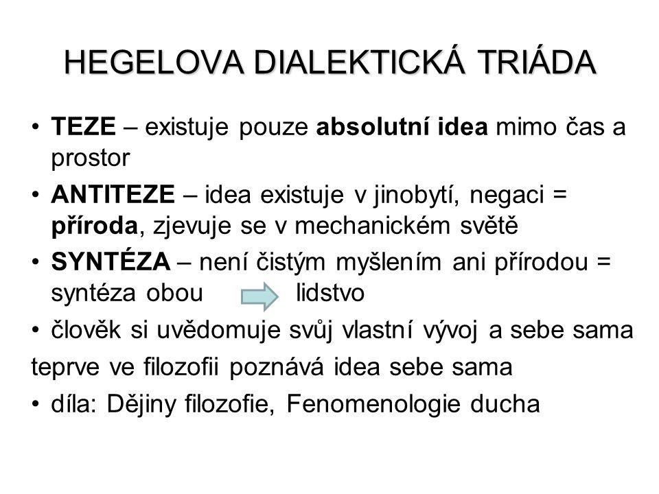 HEGELOVA DIALEKTICKÁ TRIÁDA