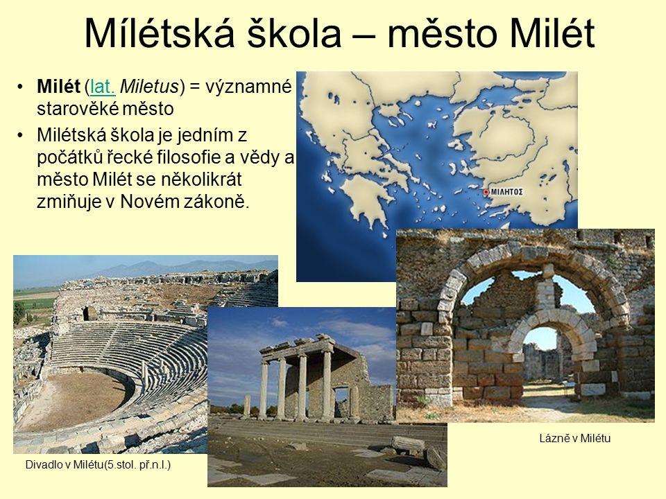 Mílétská škola – město Milét