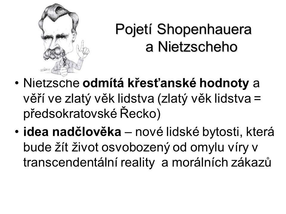 Pojetí Shopenhauera a Nietzscheho