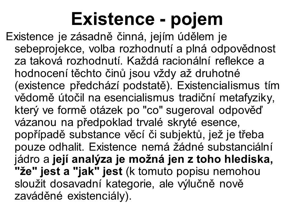 Existence - pojem