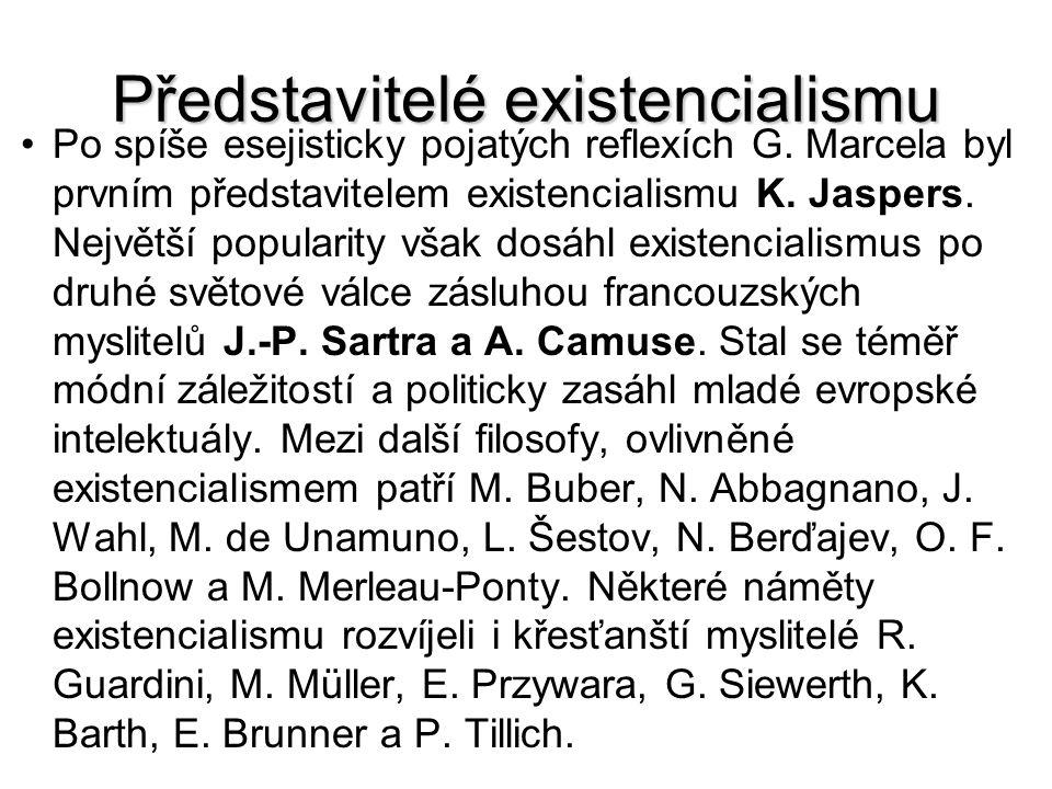 Představitelé existencialismu