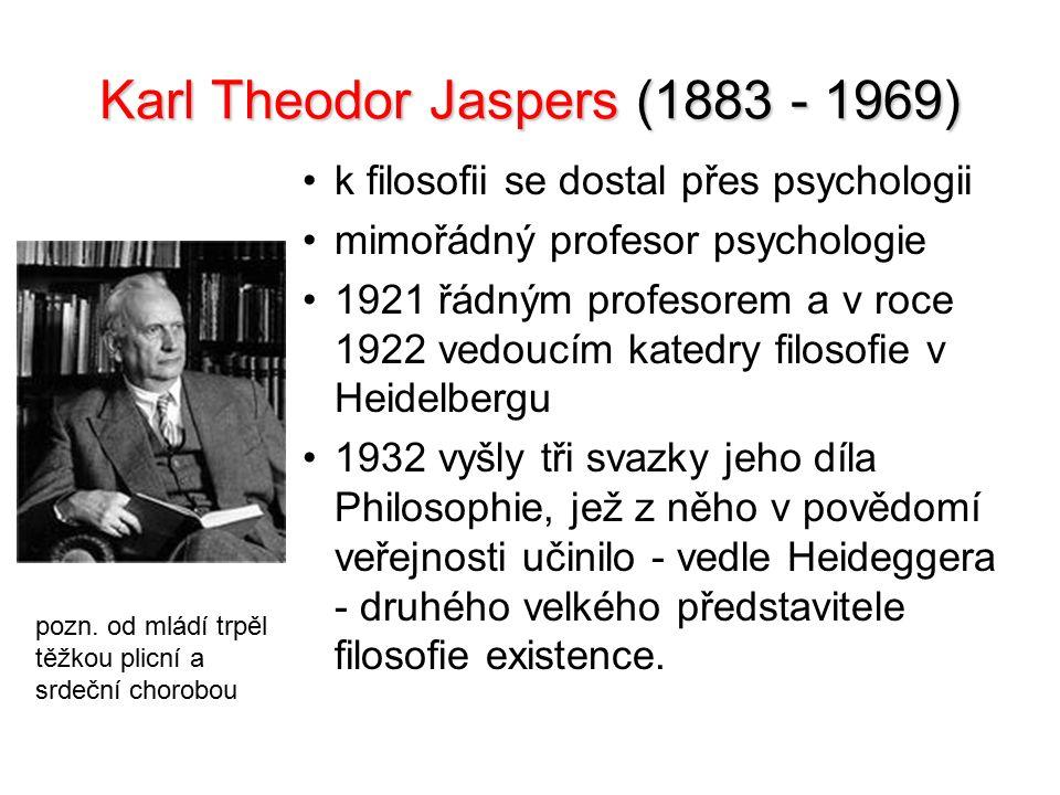 Karl Theodor Jaspers (1883 - 1969)