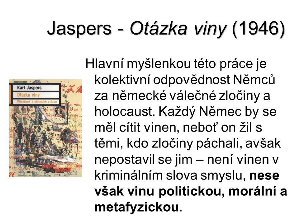 Jaspers - Otázka viny (1946)