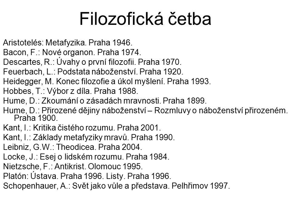 Filozofická četba Aristotelés: Metafyzika. Praha 1946.