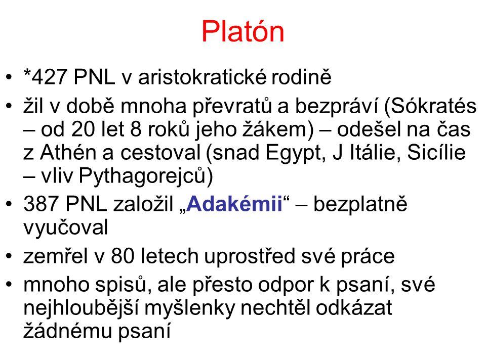 Platón *427 PNL v aristokratické rodině