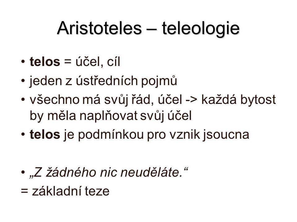 Aristoteles – teleologie
