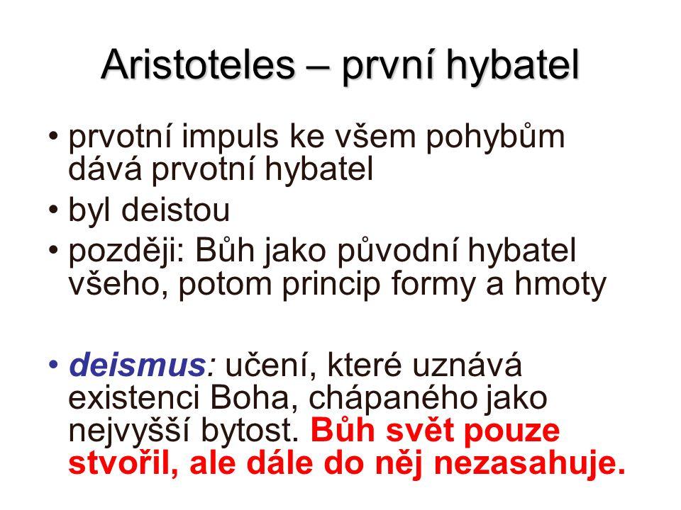 Aristoteles – první hybatel