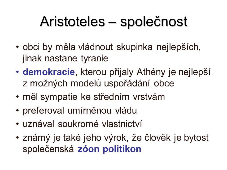 Aristoteles – společnost