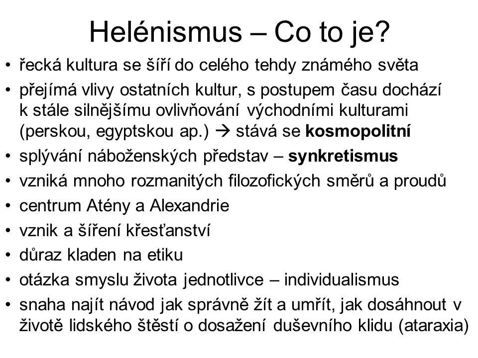 Helénismus – Co to je řecká kultura se šíří do celého tehdy známého světa.