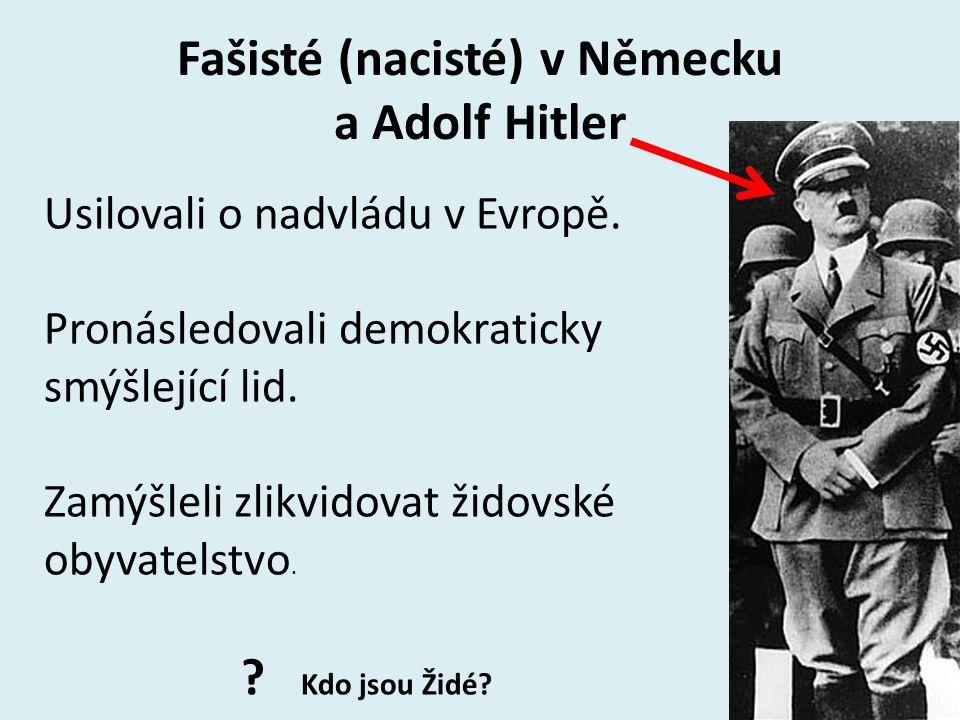 Fašisté (nacisté) v Německu a Adolf Hitler