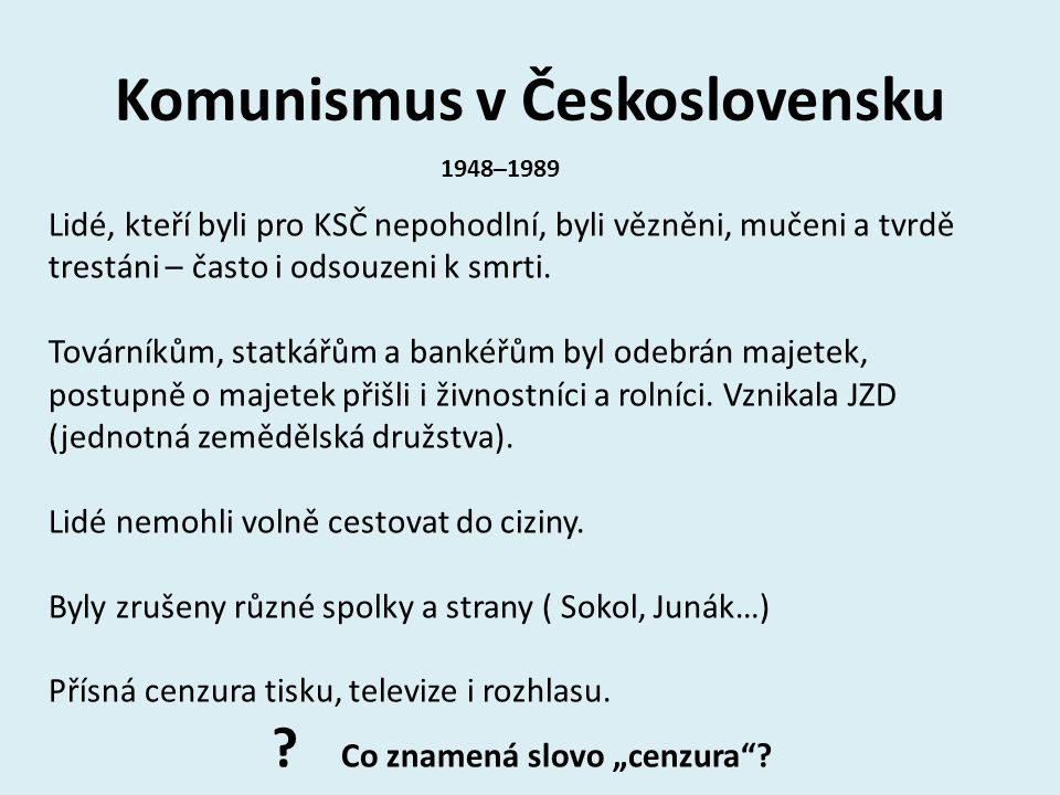 Komunismus v Československu