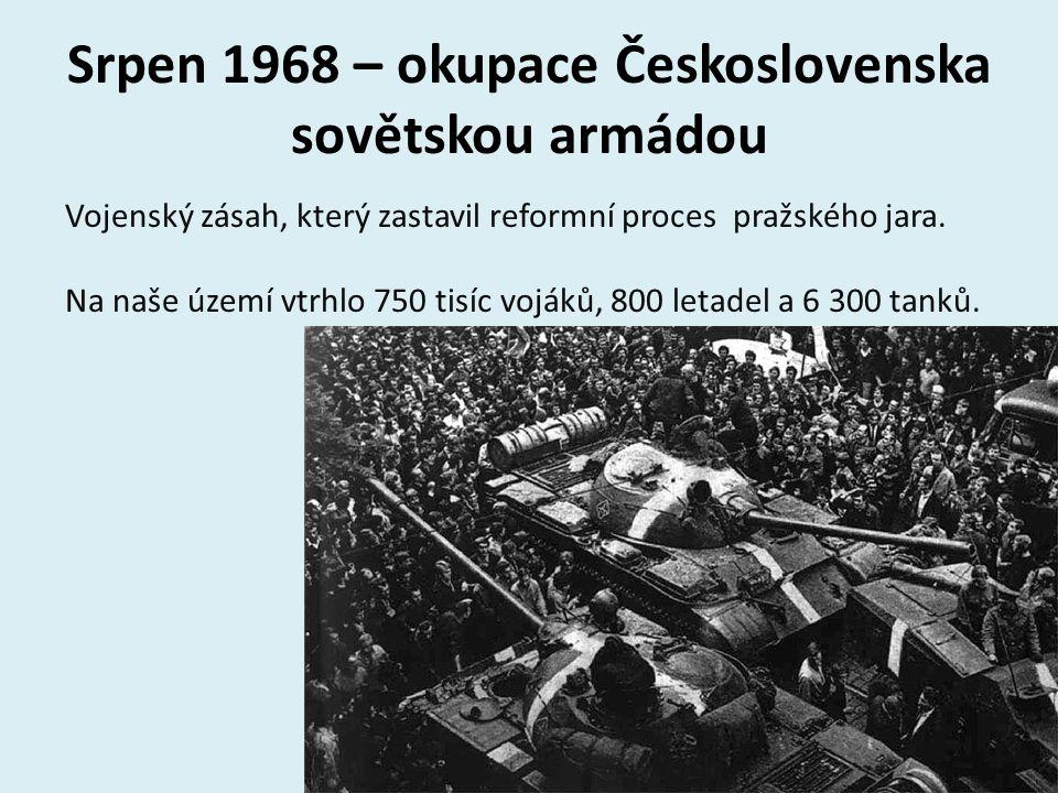 Srpen 1968 – okupace Československa sovětskou armádou