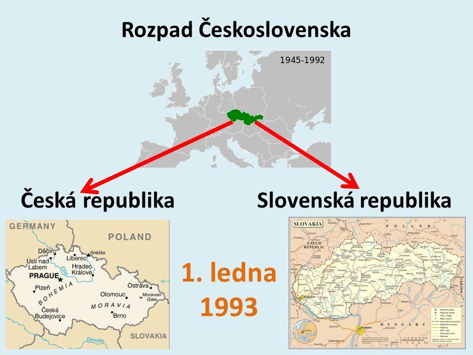Rozpad Československa Česká republika Slovenská republika