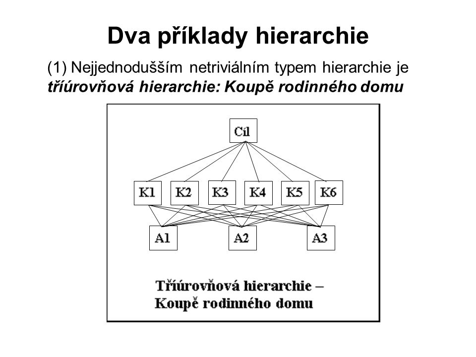 Dva příklady hierarchie