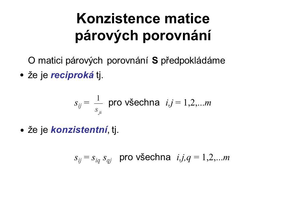 Konzistence matice párových porovnání