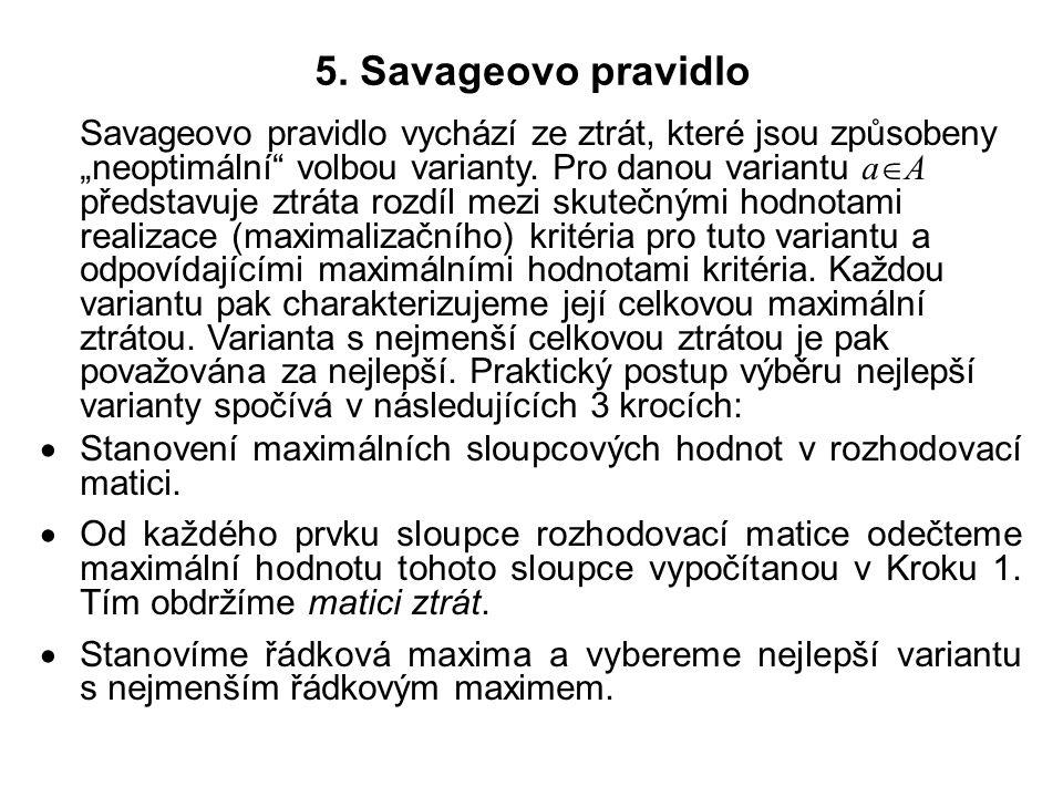 5. Savageovo pravidlo