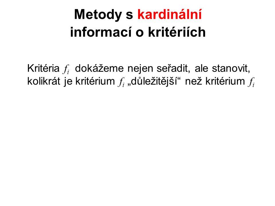 Metody s kardinální informací o kritériích