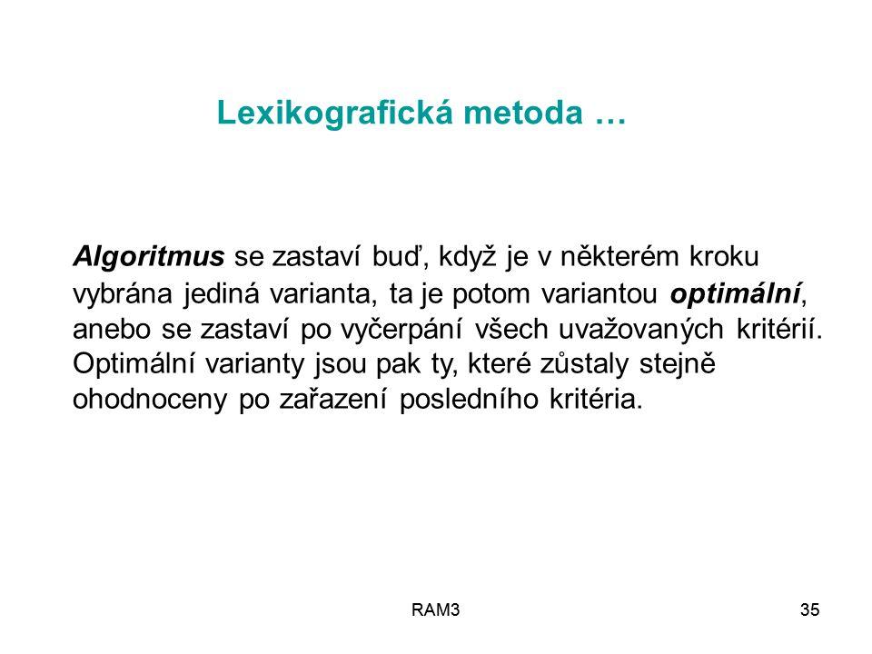 Lexikografická metoda …