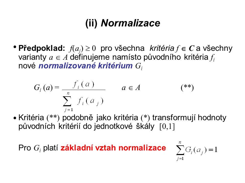 (ii) Normalizace