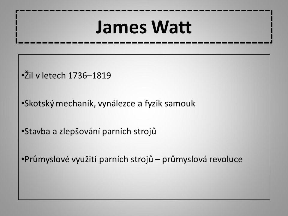 James Watt Žil v letech 1736–1819