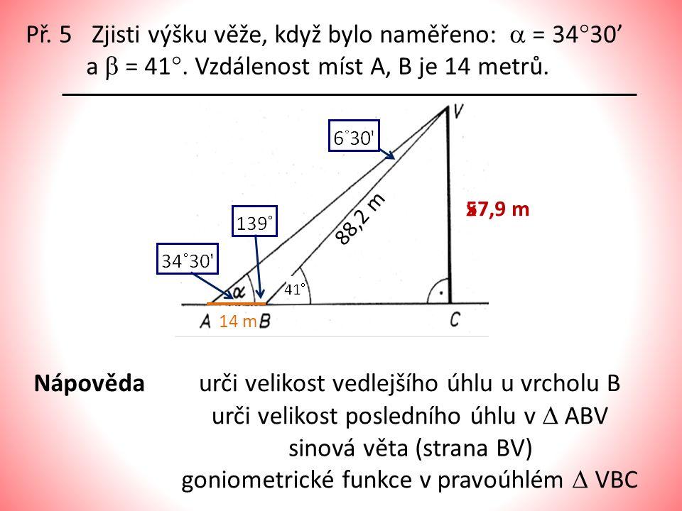 urči velikost vedlejšího úhlu u vrcholu B