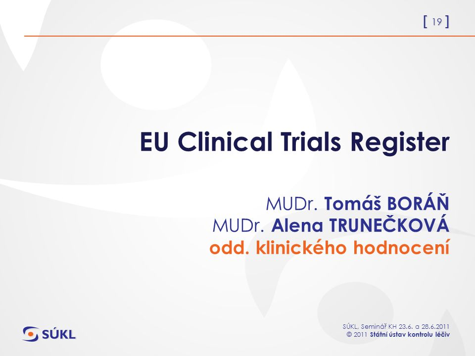 EU Clinical Trials Register