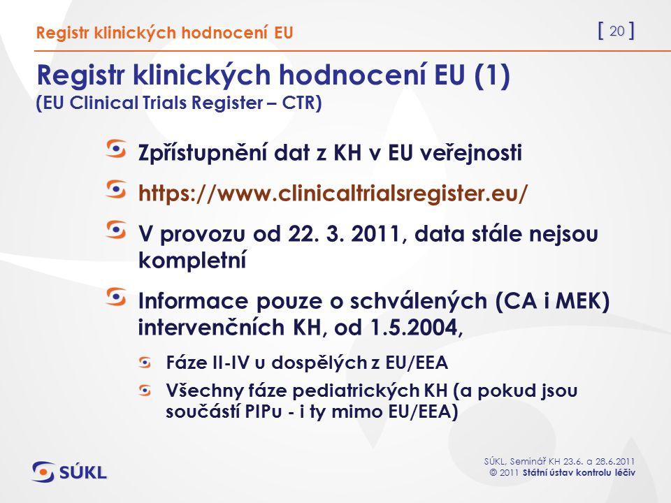 Registr klinických hodnocení EU