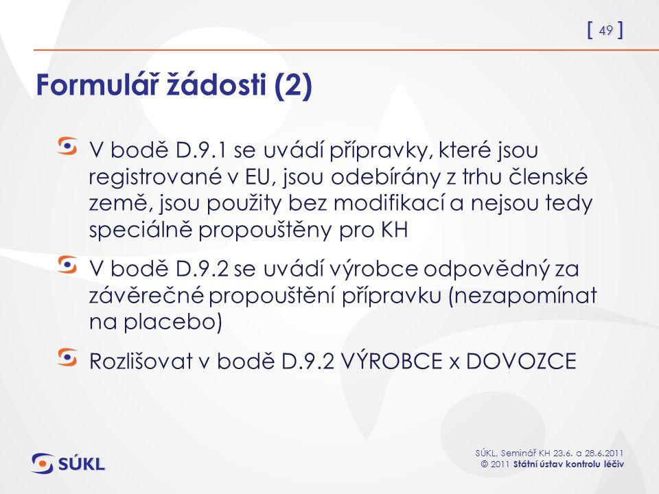 Formulář žádosti (2)