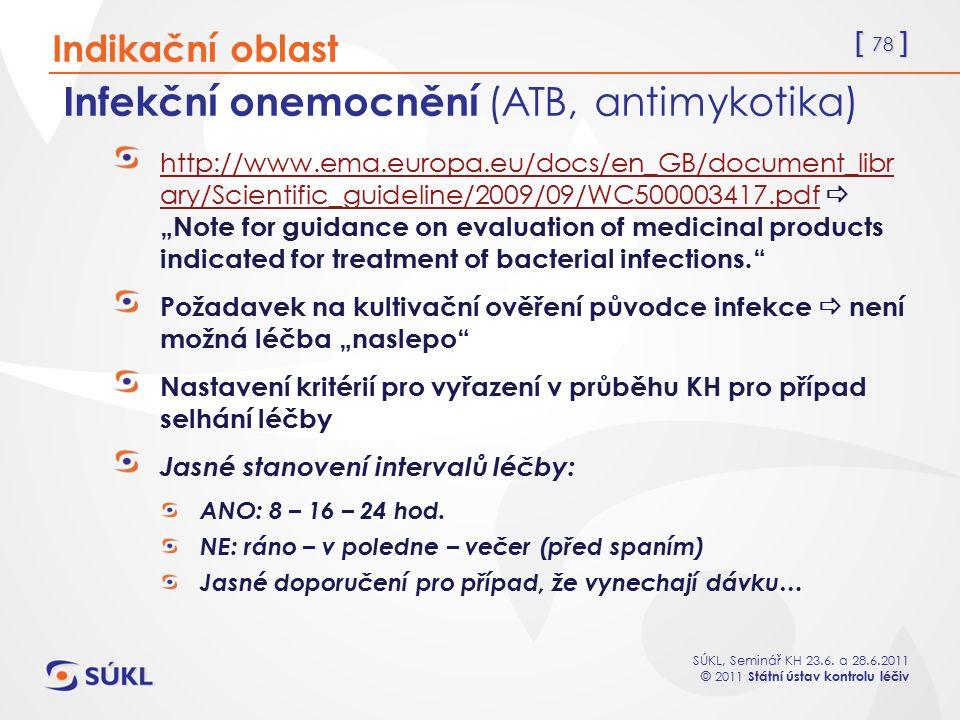 Infekční onemocnění (ATB, antimykotika)