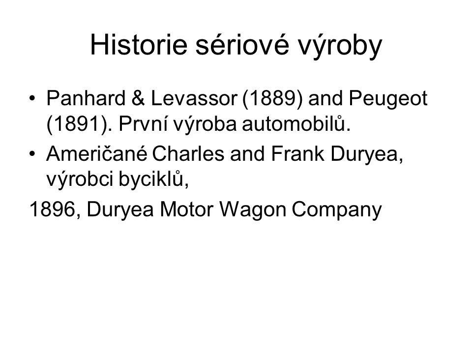 Historie sériové výroby